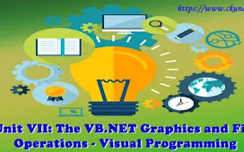 Unit VII: The VB.NET Graphics and File Operations – Visual Programming