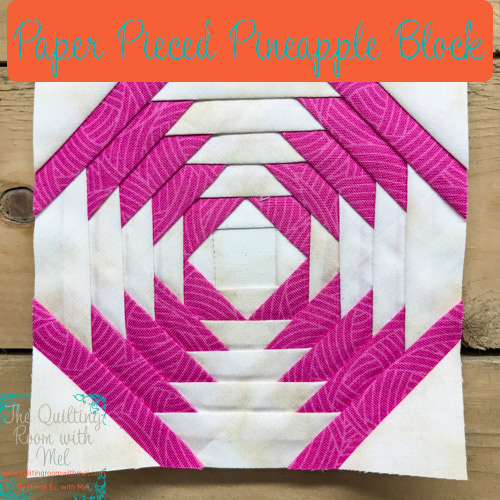 The pineapple quilt block is easy to do with paper piecing.  This is lesson 2 in the paper pieced series.
