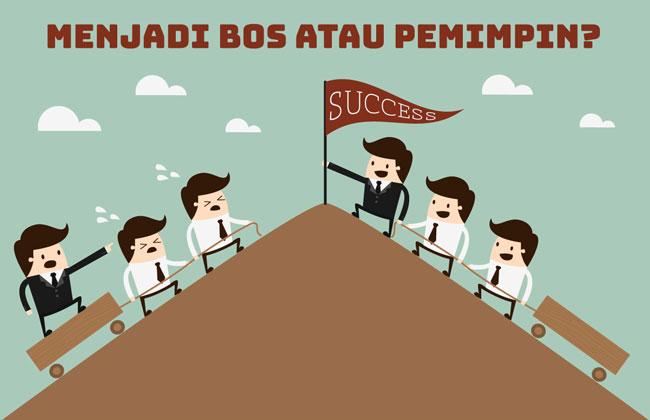 menjadi bos atau pemimpin