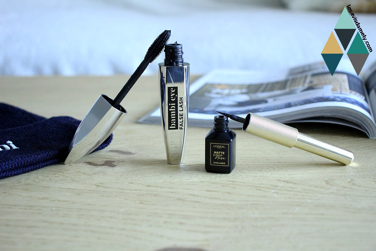 revue beauté avis mascara et eye liner noir l'oréal paris