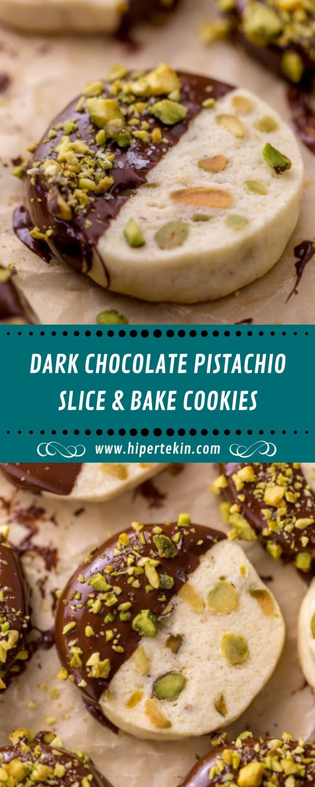 DARK CHOCOLATE PISTACHIO SLICE & BAKE COOKIES