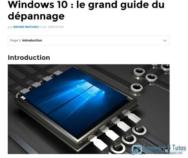 Le site du jour : comment dépanner Windows 10 ?