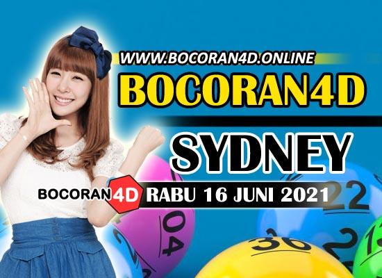 Bocoran Togel 4D Sydney 16 Juni 2021