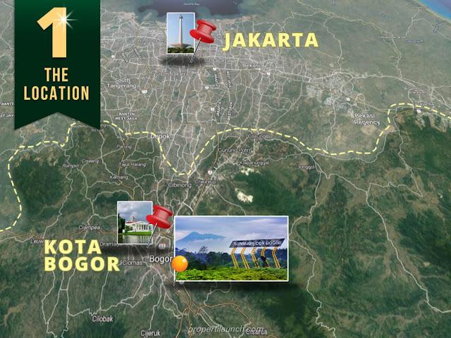 Lokasi Summarecon Bogor