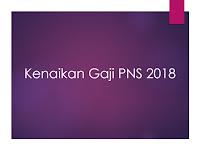 Kenaikan Gaji PNS 2018