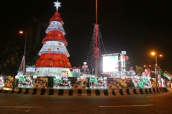 Christmas Decoration By Zenith Bank Around Ajose Adeo Roundabout