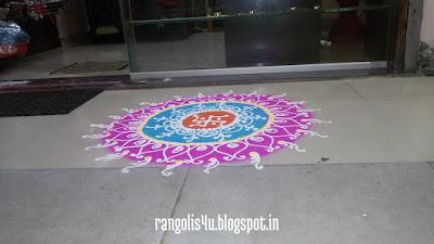 Swastik Rangoli Designs
