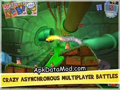 Worms 3 Apk smoky shot