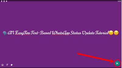 WhatsApp Text Status Update - post