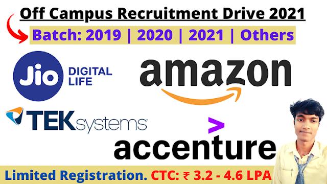 Jio Off Campus Recruitment Drive 2021