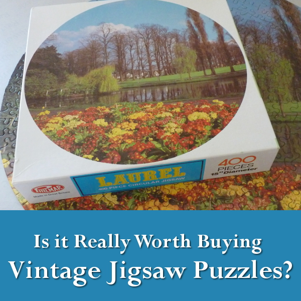 Is it Worth Buying Vintage Jigsaw Puzzles? Old second hand thrift store auction antique collection collecting