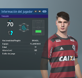 PES 2019 Faces Matheus Thuler by Francisco1507
