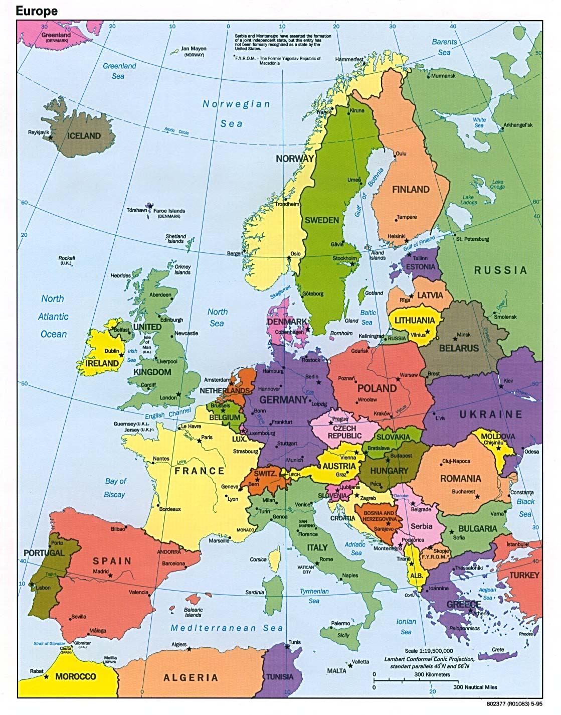 europa kort online