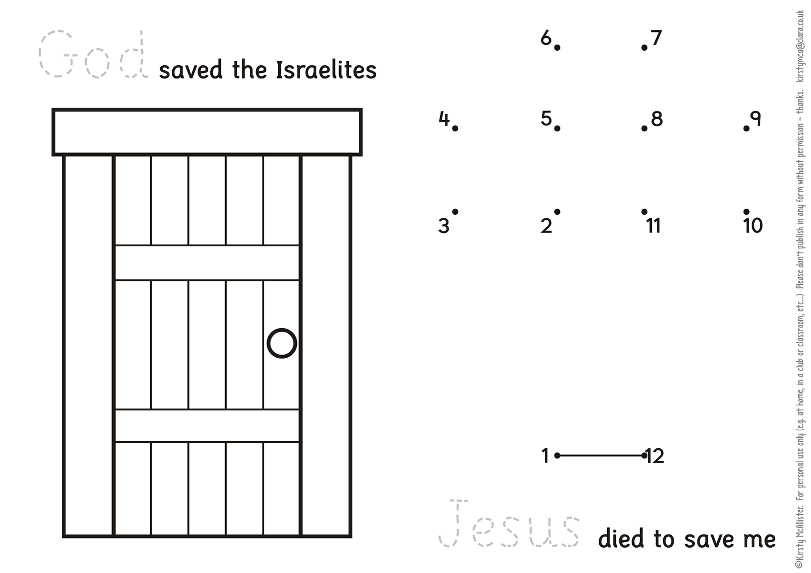 Miscellany Of Randomness Sunday School Passover Activities