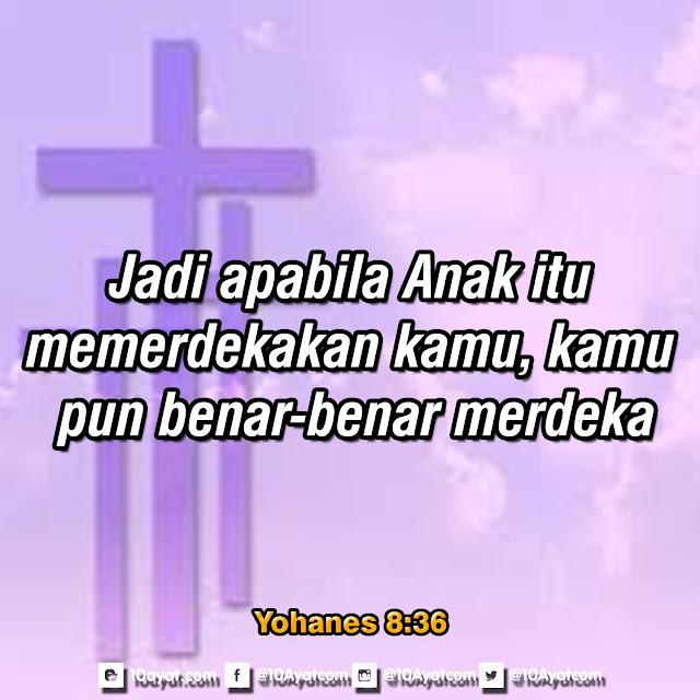 Yohanes 8:36