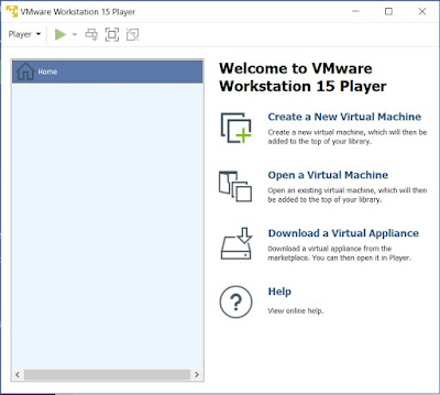 Screenshot VMware Workstation Player 15.1.0 Build 13591040 Commercial