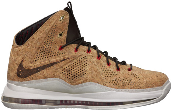 the latest a9767 fd0f8 Nike LeBron X EXT Cork QS Classic Brown University Red-Hazelnut-Sail  Release Reminder