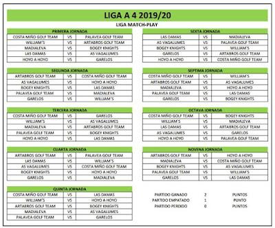 Liga a 4 Cuadro Match Play