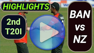 BAN vs NZ 2nd T20I 2021