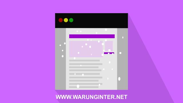 Cara Membuat Efek Animasi Salju di Blogger