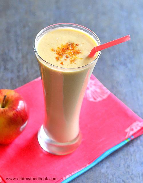 apple chiku milkshake