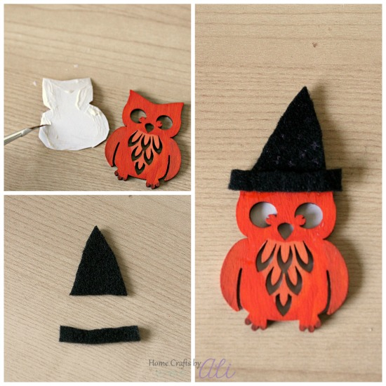transform wood owl to a magical witch