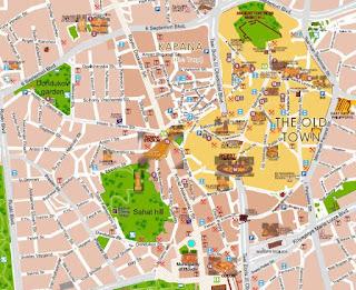 Mapa de Plovdiv.