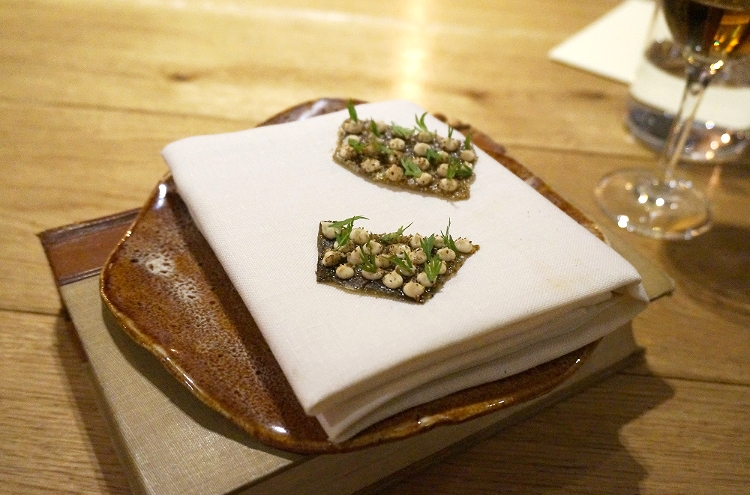 Euriental || fashion & luxury travel || Restaurant Story, London, crispy cod skins amuse bouche