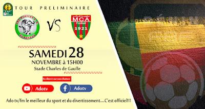 بث مباشر Buffles de Borgou - MC Alger