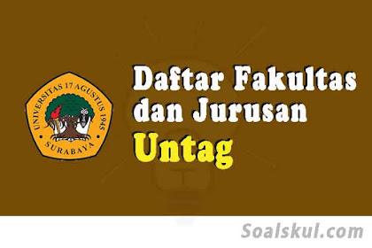 Daftar Fakultas Dan Jurusan UNTAG Surabaya 2020 (TERBARU)