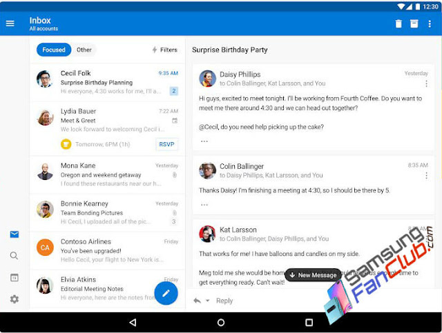 Get Microsoft Outlook on Android Samsung Galaxy S10 Plus