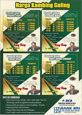 Harga Kambing Guling Lembang Tahun Baru 2021, harga kambing guling lembang, kambing guling lembang, kambing guling,