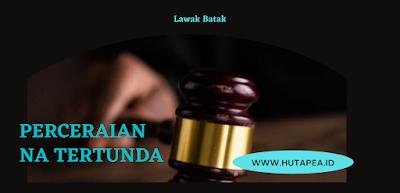 Lawak batak, perceraian, humor, pengadilan