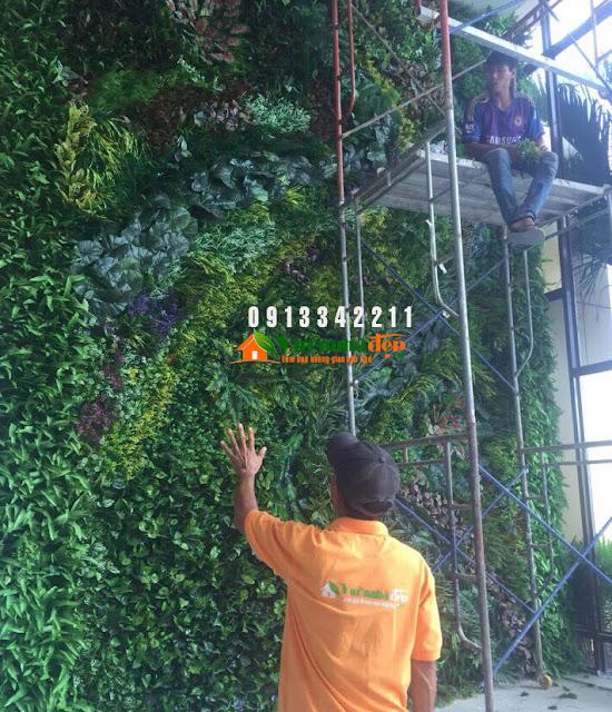 Thi Công tường cây giả - Đẹp như tường cây thật - 10