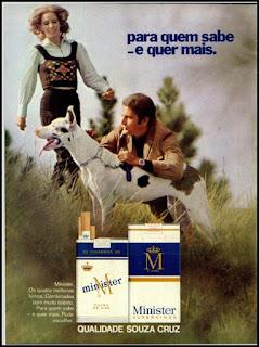propaganda cigarros Minister - 1971, cigarros anos 70, souza cruz decada de 70, anos 70, propaganda anos 70, Oswaldo Hernandez,