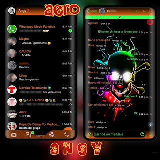 Dark Skull Theme For YOWhatsApp & Aero WhatsApp By Ave fénix