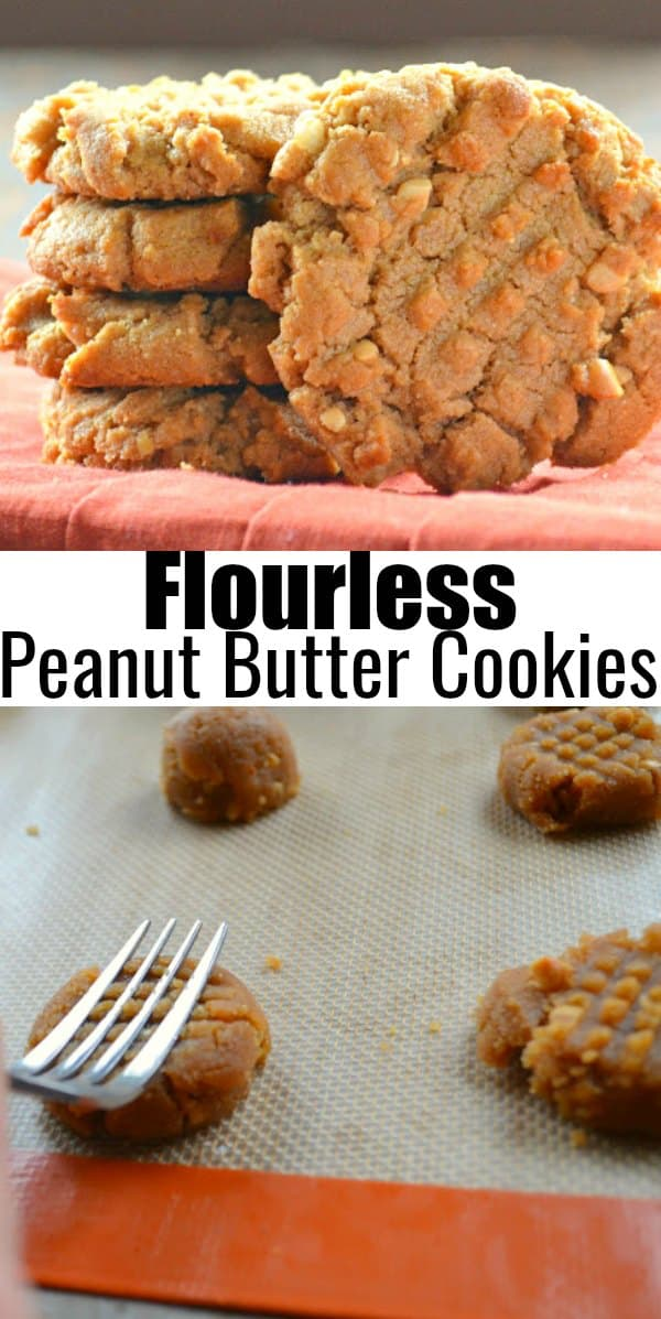 Flourless Peanut Butter Cookies are a favorite easy to make cookie recipe that's perfect for dessert from Serena Bakes Simply From Scratch.