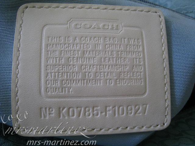 How To Spot A Fake Coach Bag Xoxo Mrsmartinez