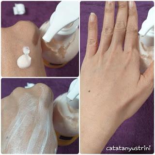 pemakaian body lotion