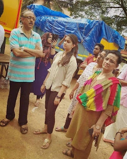 Keerthy Suresh with her Parents in Kerala