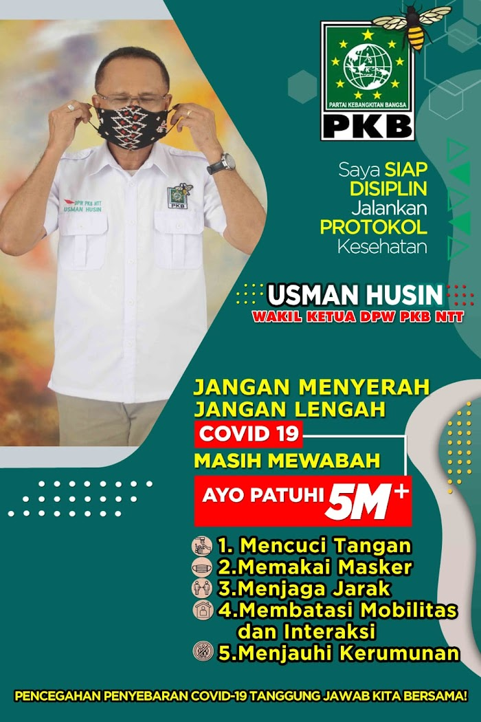 Usman Husin Gencar Ajak Masyarakat Rote Ndao Kota Kupang Patuhi Protokol Kesehatan.