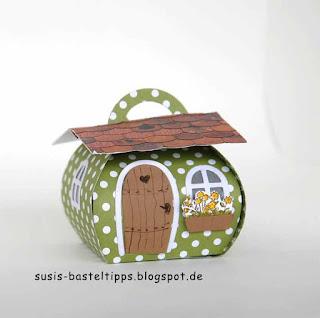 Feenhäuschen mit Curvy Keepsake Box und haus-verpackung-fur-ferrero-rocher-mit-stampin-up-framelits-zu-hause