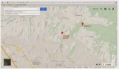Peta Menuju Tebing Keraton
