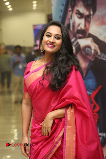 Actress Pooja Ramachandran Pictures in Red Silk Saree at Siddhartha Audio Release 0018