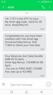 Airtel 1GB Free Activation