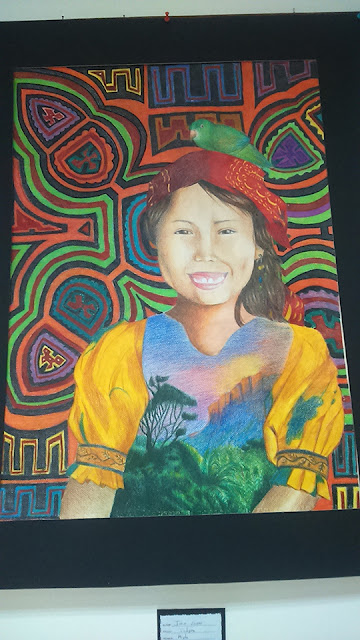 niña indigena pintura