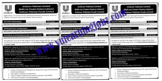 Latest Jobs 2021 || Unilever Pakistan Food Limited || Walls Ice Cream Factory Jobs 2021