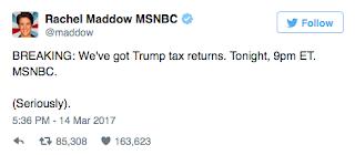 Twitter Just SHREDDED Rachel Maddow Over Trump Tax Return 'Story'