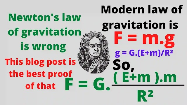 Newton's law of gravitation is wrong