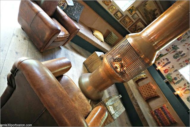 Chimenea del Comedor en el Restaurante De Vergulden Eenhoorn en Amsterdam